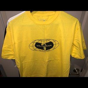 Wu-Wear yellow T-shirt.